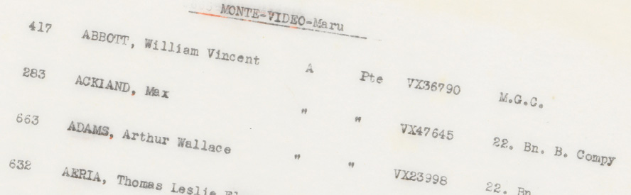 crop of English listing